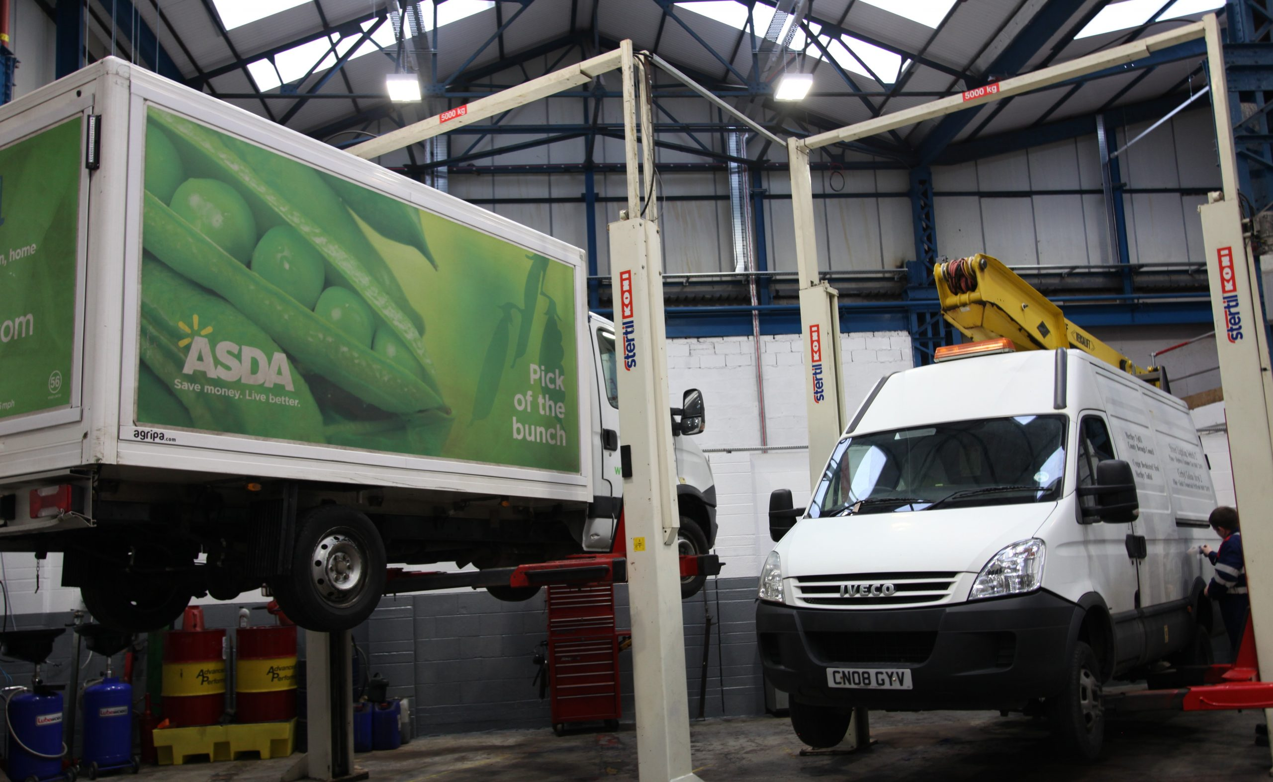 Asda & MTCBC Vans on Ramp